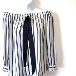 J.CREW MERCANTILE - Striped Off the Shoulder Top